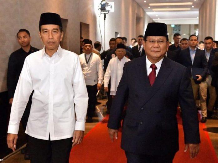 Presiden RI Joko Widodo Bersama Prabowo Subianto.