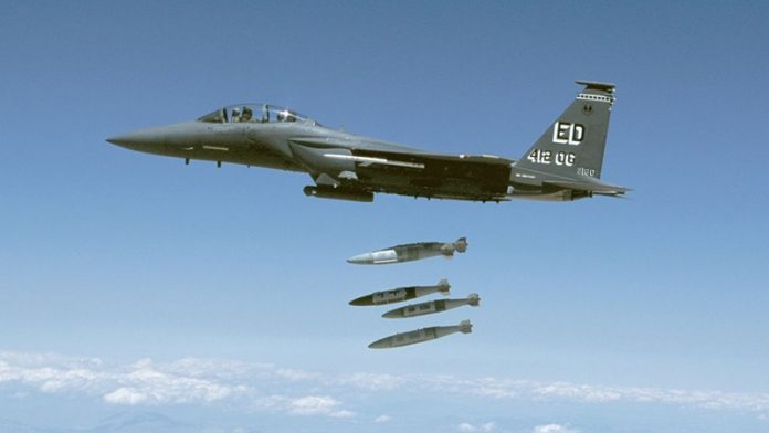 Serangan Udara Koalisi AS.