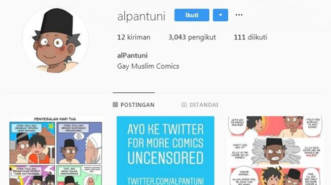 Akun Komik Muslim Gay.