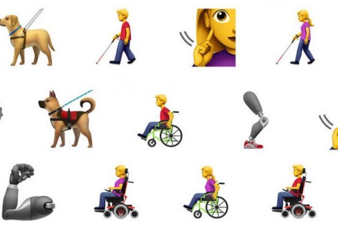 Emoji baru 2019 yang bertema disabilitas.