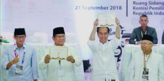 Prabowo-Sandiaga dan Jokowi-Ma'ruf.
