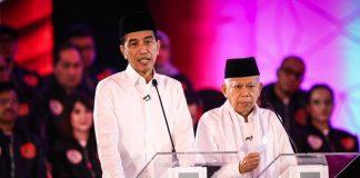 Paslon no urut 01 Jokowi dan KH Ma'ruf Amin.