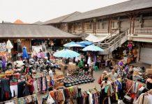 Pasar Seni Ubud di Bali, Indonesia.