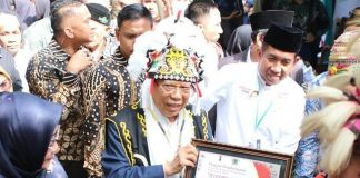 KH Maruf Amin di Samarinda.