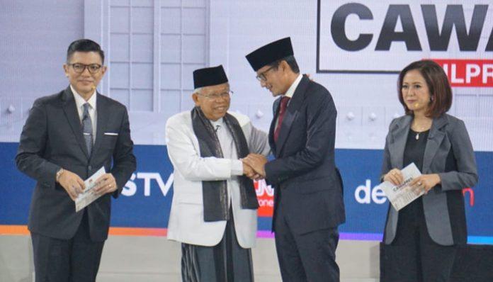 Ma'ruf Amin dan Sandiaga Uno.