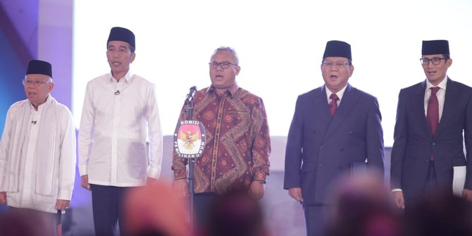 Debat Ketiga Pilpres 2019.