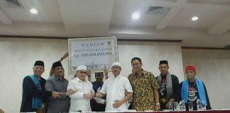 Tujuh elemen pendukung Jokow-Ma'ruf menggelar konfrensi pers sayembara Rp100 miliar bagi yang dapat membuktikan kecurangan Pilpres 2019.