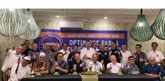 Relawan Alumni Menteng 64 (AM64) menggelar acara syukuran dengan tema 'Optimisme Pasca Suksesnya Pemilu'.