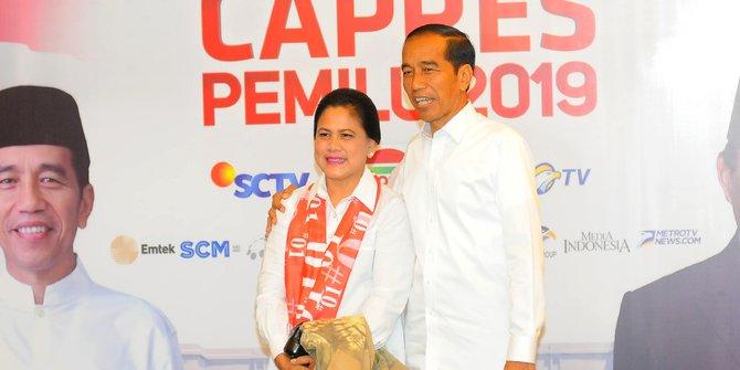 Presdien Jokowi bersama ibu negara Iriana Joko Widodo.