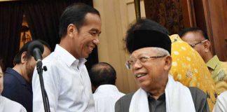 Joko Widodo bersama Ma'ruf Amin.