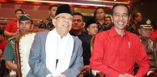 Pasangan Capres dan Cawapres nomor urut 01 Jokowi-Ma'ruf Amin.