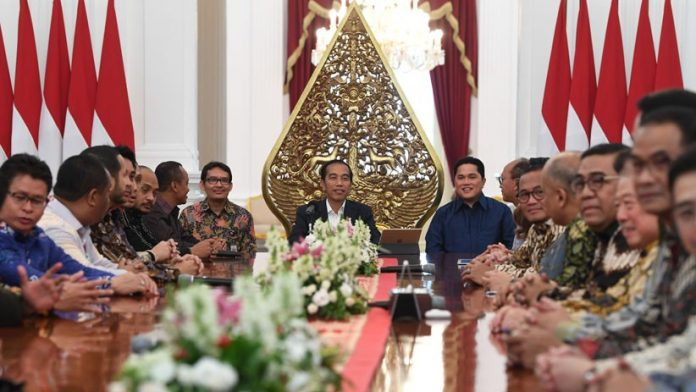 Jokowi Ajak Kadin dan Hipmi Manfaatkan Peluang Perang Dagang AS-China.