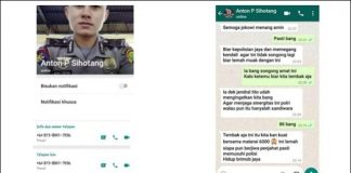 Chat WA Anggota Polda Metro Jaya Hina TNI dan Dukung Jokowi Hoaks.