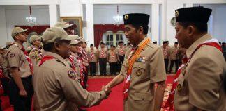 Jokowi Melepas Kontingen Pramuka ke Jambore Dunia di Amerika.