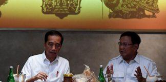 Presiden Jokowi Dan Ketua Umum Partai Gerindra Prabowo Subianto.