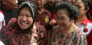 Tri Rismaharini dan Megawati Soekarnoputri.