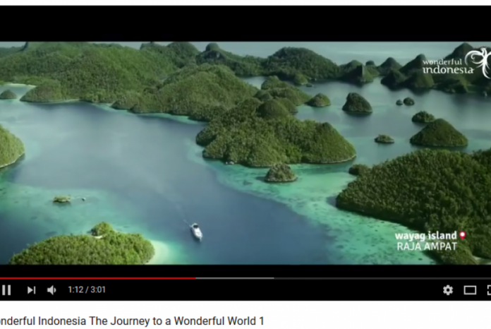 Cuplikan video Wonderful Indonesia The Journey to a Wonderful World.