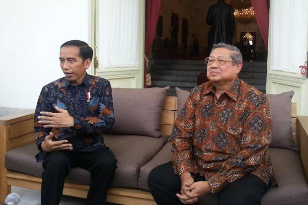 Presiden Jokowi dan Ketua Umum Partai Demokrat Susilo Bambang Yudhoyono.