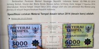 Harga Jadi Rp10.000 Materai Rp3.000-Rp6.000 dihapus.