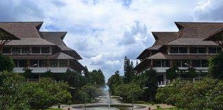 Kampus Institut Teknologi Bandung (ITB) di Bandung, Jawa Barat.