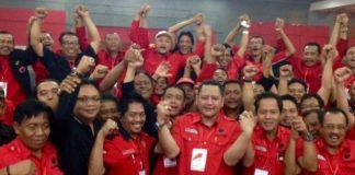 Para Pengurus DPC PDIP Surabaya.