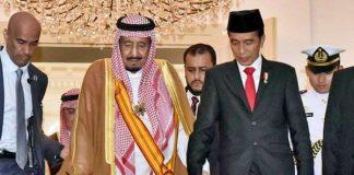 Raja Salman dan Presiden Jokowi.