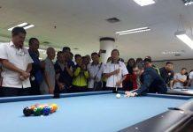 Ketua Umum Pengurus Besar Persatuan Olahraga Biliar Seluruh Indonesia (POBSI), Hary Tanoesoedibjo.