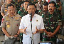 Panglima TNI, Kapolri, dan Menko Polhukam Tinjau Manokwari.