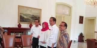 Presiden Jokowi Temui Baiq Nuril di Istana Bogor.