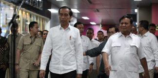 Presiden RI Jokowi dan Ketum Gerindra Prabowo Subianto.