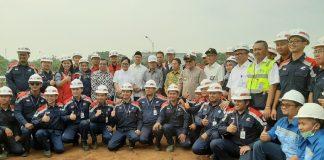 Jusuf Kalla meninjau progress pembangunan Universitas Islam Internasional Indonesia