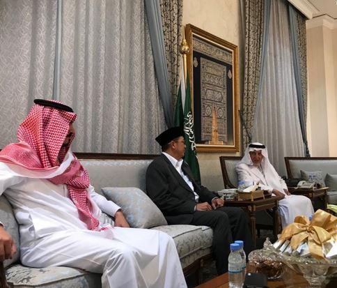 Menag Lukman Hakim Saifuddin bertemu Gubernur Mekah, Khalid al Faisal.