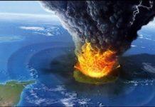 Ilustrasi Letusan Gunung Krakatau.