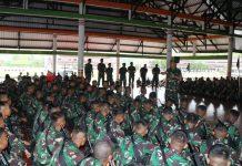 Ratusan Prajurit Yonif Raider 509 Telah Tiba di Papua.