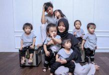 Kesabaran Orang Tua Urusi Anak Kembar 5 Bernama A I U E O.