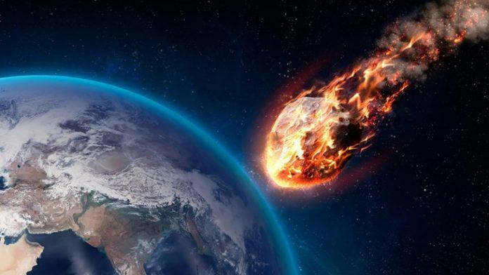 Asteroid yang semakin mengarah ke Bumi.