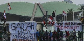 Aksi Mahasiswa Di DPR.