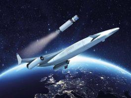 pesawat bermesin roket hipersonik.