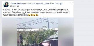 Viral, Polwan Tak Mau Turun dari Boncengan Motor Pelanggar Lalu Lintas.