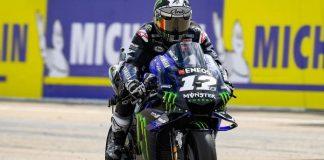 Pembalap Yamaha Maverick Vinales.