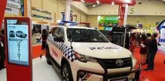 Mobil Patroli Polisi Gunakan Toyota Fortuner Racikan Indonesia.