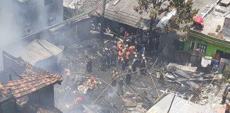 Kebakaran di Sarkem Yogyakarta Satu Orang Meninggal.