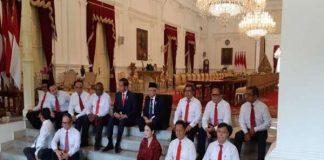Presiden Jokowi mengumumkan 12 wakil menteri.