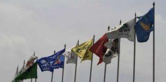 Ilustrasi Bendera Partai Politik.