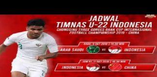 Jadwal Siaran Langsung Timnas Indonesia U-22 vs Arab Saudi.
