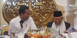 Presiden Jokowi dan Wapres Ma'ruf Amin.