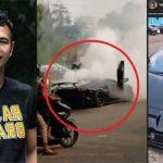 Kronologi Terbakarnya Lamborghini Milik Raffi Ahmad.