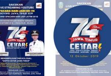 Jawa Timur merayakan hari jadinya yang ke-74 tepat pada Sabtu, 12 Oktober 2019.