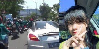 Mahasiswi cantik dari STIE Perbanas Surabaya, GitaFitri Fernanda viral karena mengendarai mobil sport mewah, saat demo di Gedung DPRD Jawa Timur.