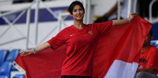 Viral, Miyabi Jadi Suporter Timnas Indonesia.